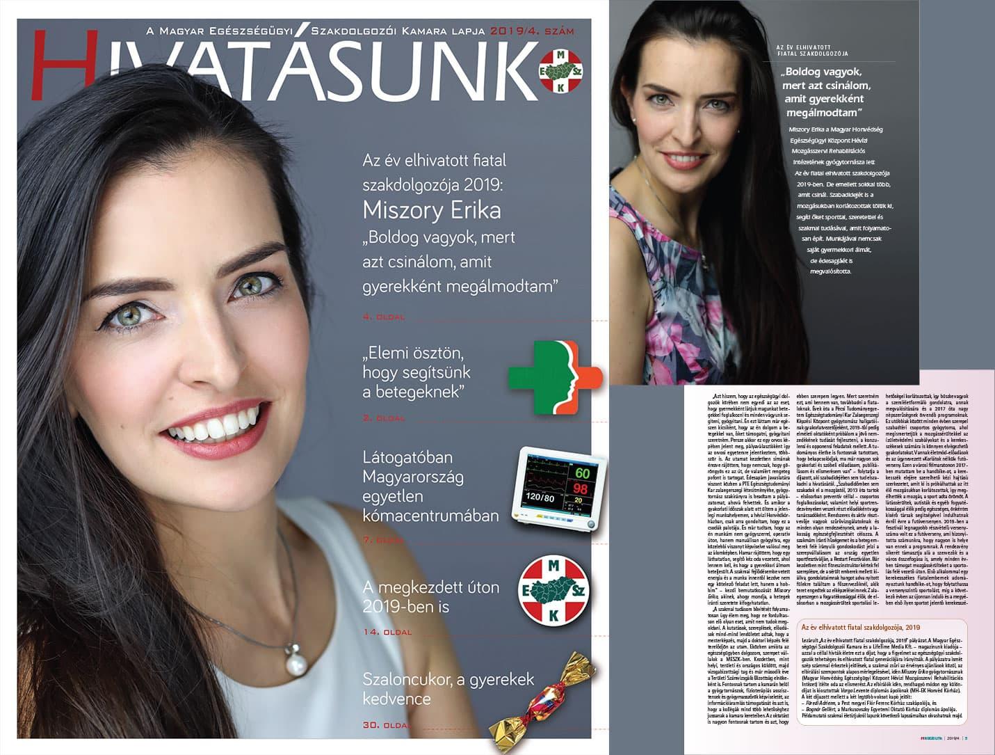 Hivatásunk magazin - Miszory Erika - 2019 - Az Év Elhivatott Fiatal Szakdolgozója